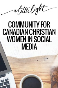 community for canadian christian women in social media