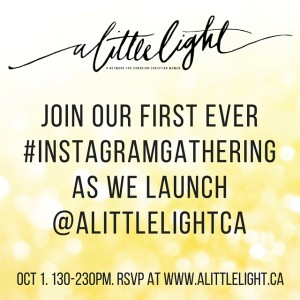 instagram party for a little light community