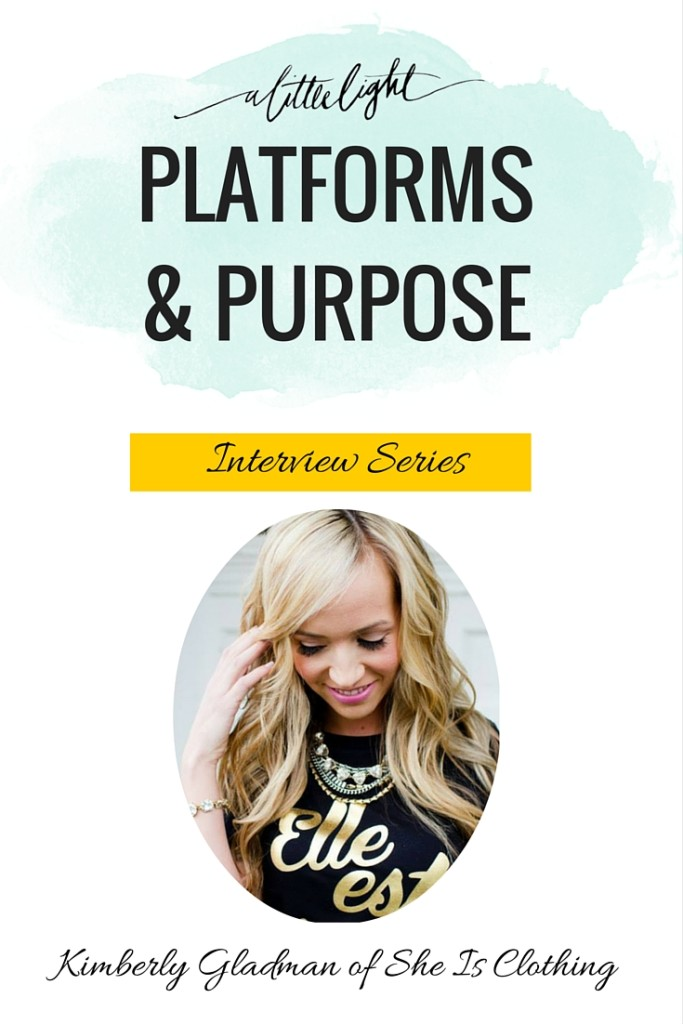 platforms and purpose interview