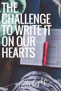 writing scripture on our hearts challenge