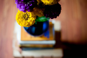 flowers and books by jennimarie