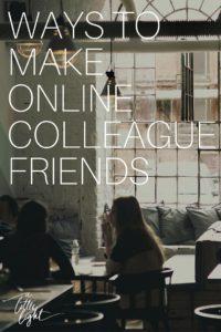 make online colleague friends