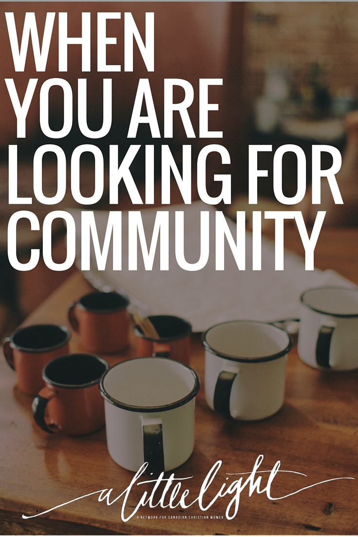 finding and being in community
