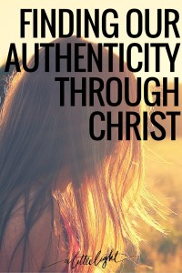 authenticity is biblical. authenticated by christ
