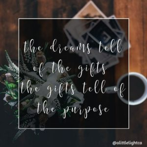 the dreams the gifts the purpose