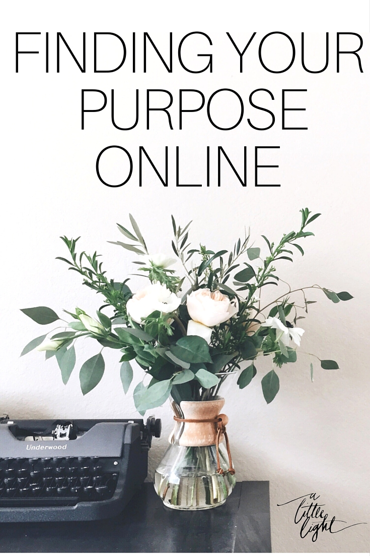 find your purpose online